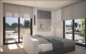 Neubauvilla Falla 12 Render Schlafzimmer