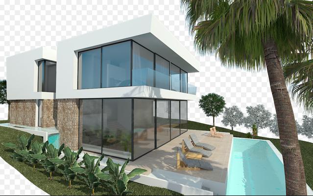 Vorderansicht Pool Bauprojekt Penyes 96 Cala Pi