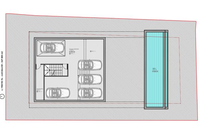 zweigeschossige Tiefgarage Bauprojekt Penyes 96 Cala Pi