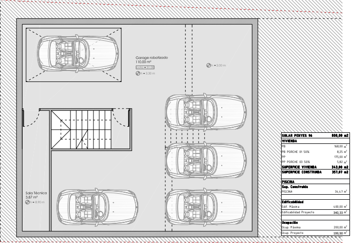 Tiefgarage Bauprojekt Penyes 96 Cala Pi
