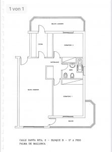 Grundrissplan Meerblick Wohnung Palma de Mallorca