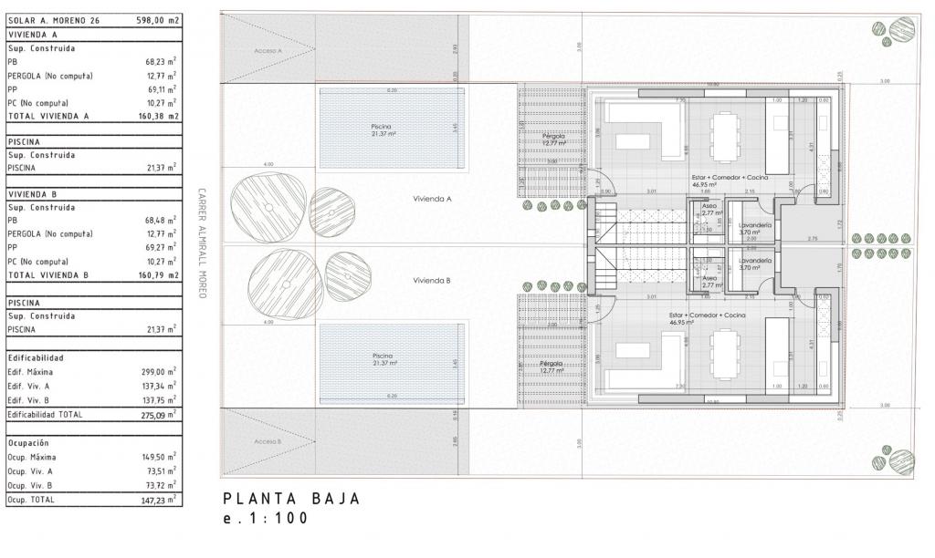hochwertiges Neubau Doppelhaus mit Meerblick in Badia Gran, Mallorca