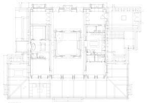Plan Hauptgebäude Finca Projekt Algaida