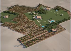 vier herrschaftliche Gebäude bilden die Finca in Algaida Mallorca